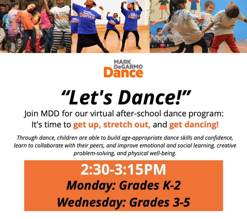 Let's Dance after-school program flyer