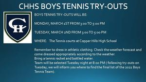 CHHS BOYS TENNIS TRY-OUTS