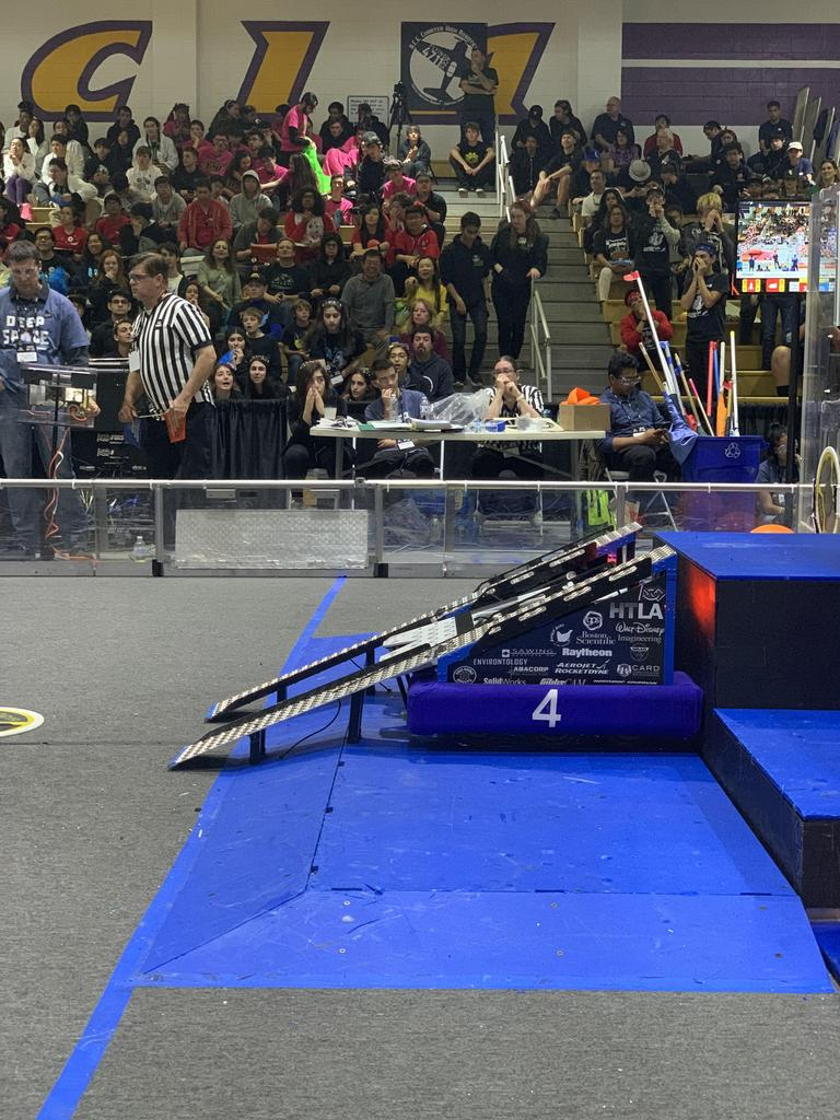 Rampage ready to help another robot up onto the Level 3 platform
