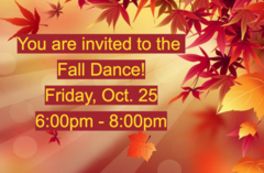 GTMS Fall Dance is Friday, Oct. 25 from 6:00pm-8:00pm