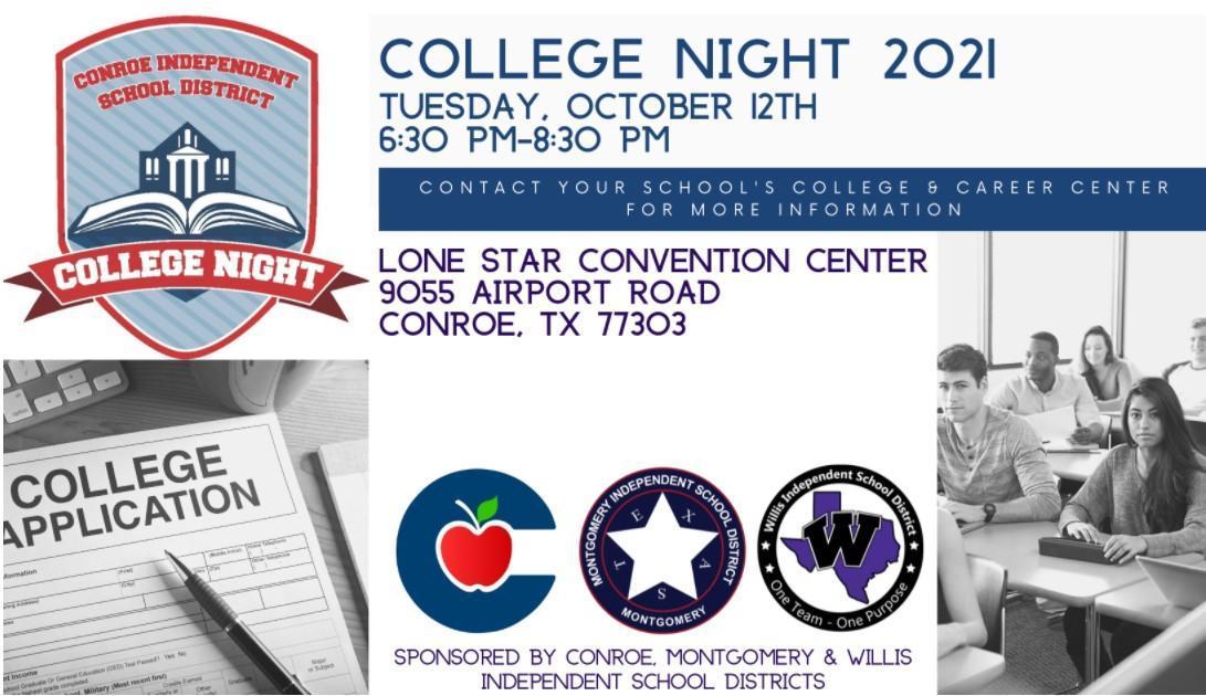 CISD College Night Tuesday, 10/12