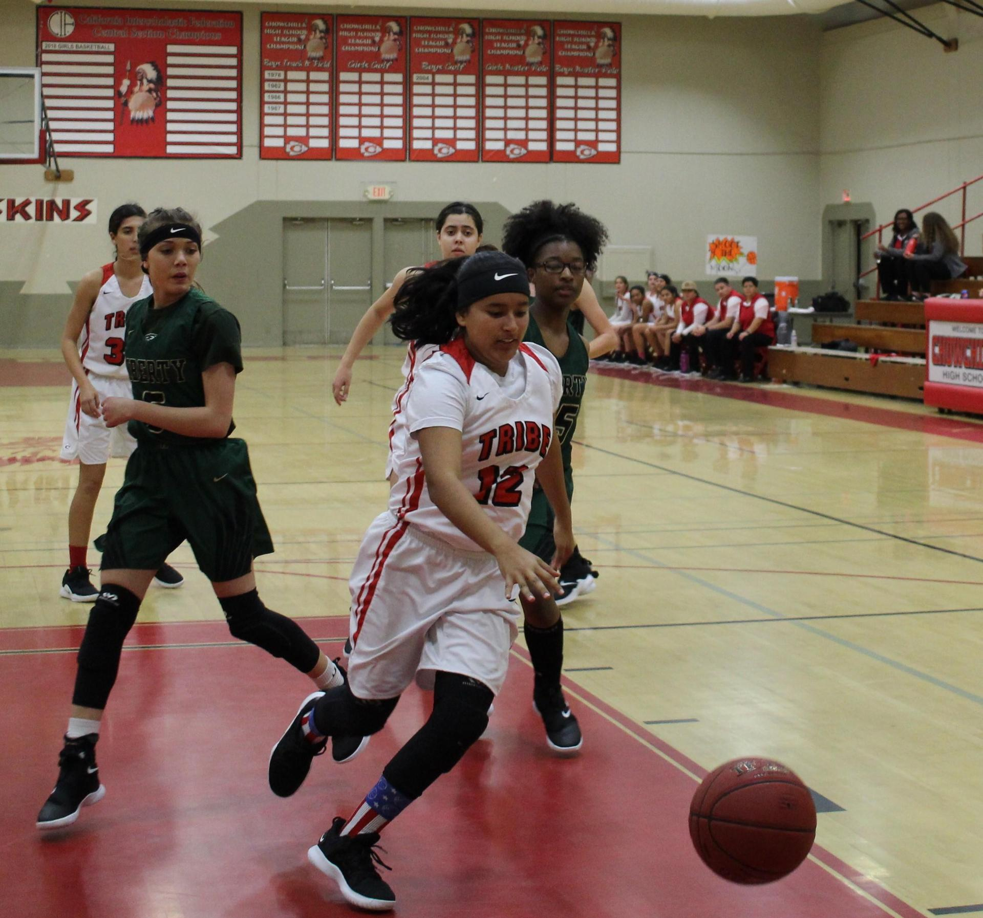 Chowchilla High Athletes at Basketball Game vs Liberty