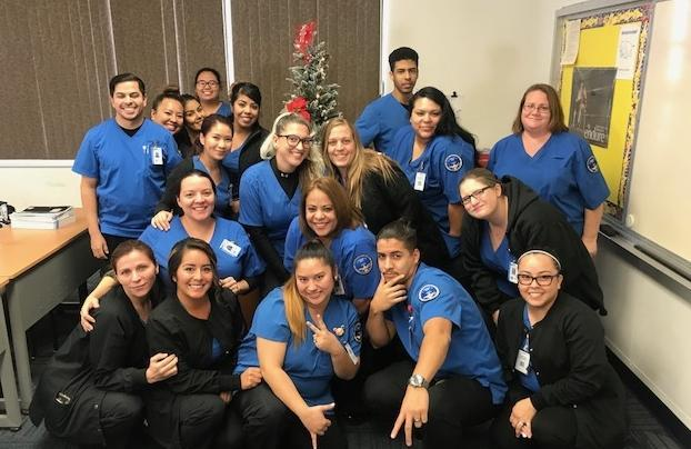 Group photo of Vocational Nursing Class 26, Holiday Party, December 2017