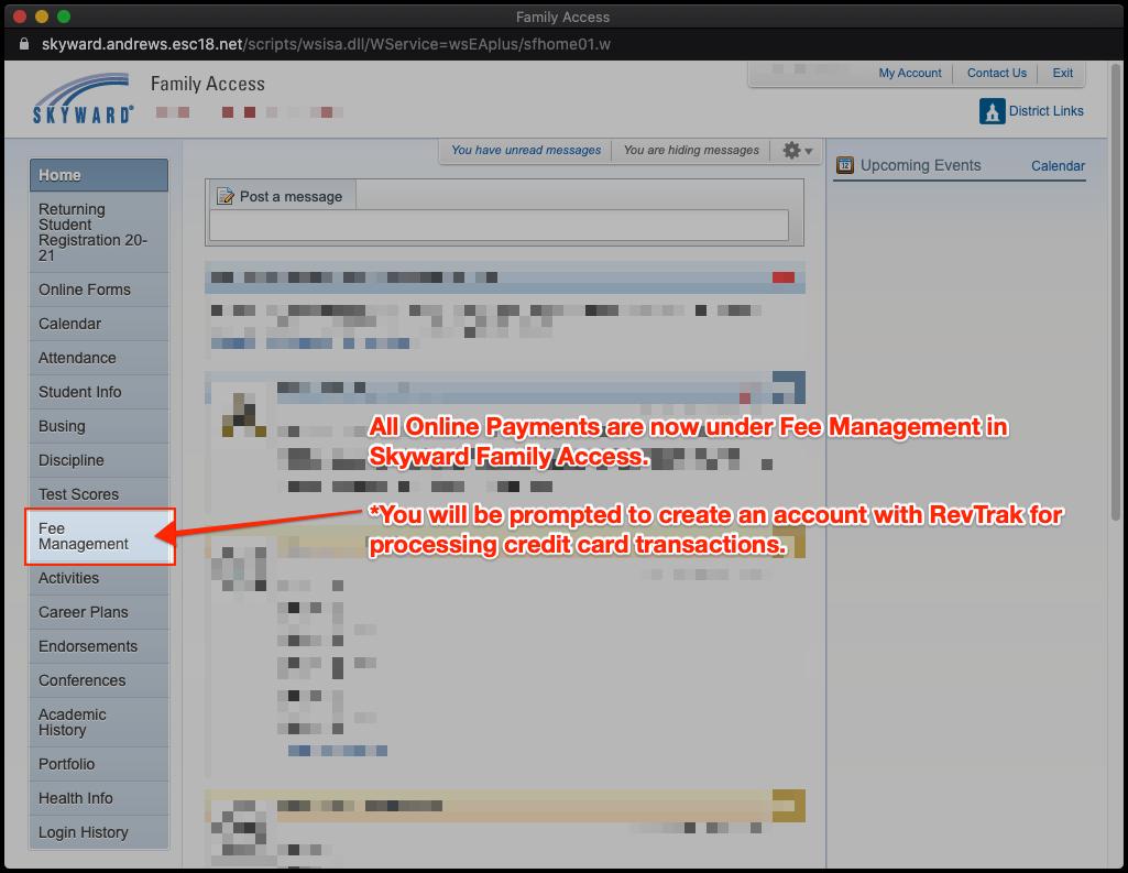 Fee Management screenshot