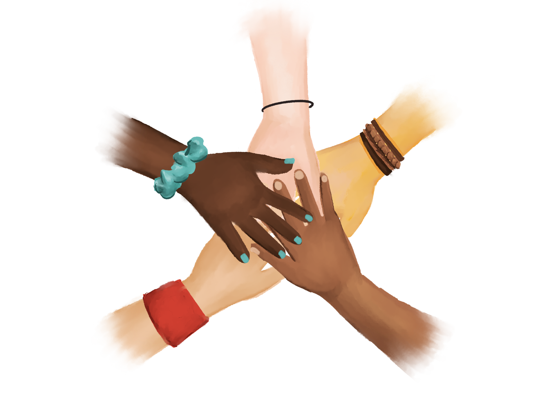all hands in graphic