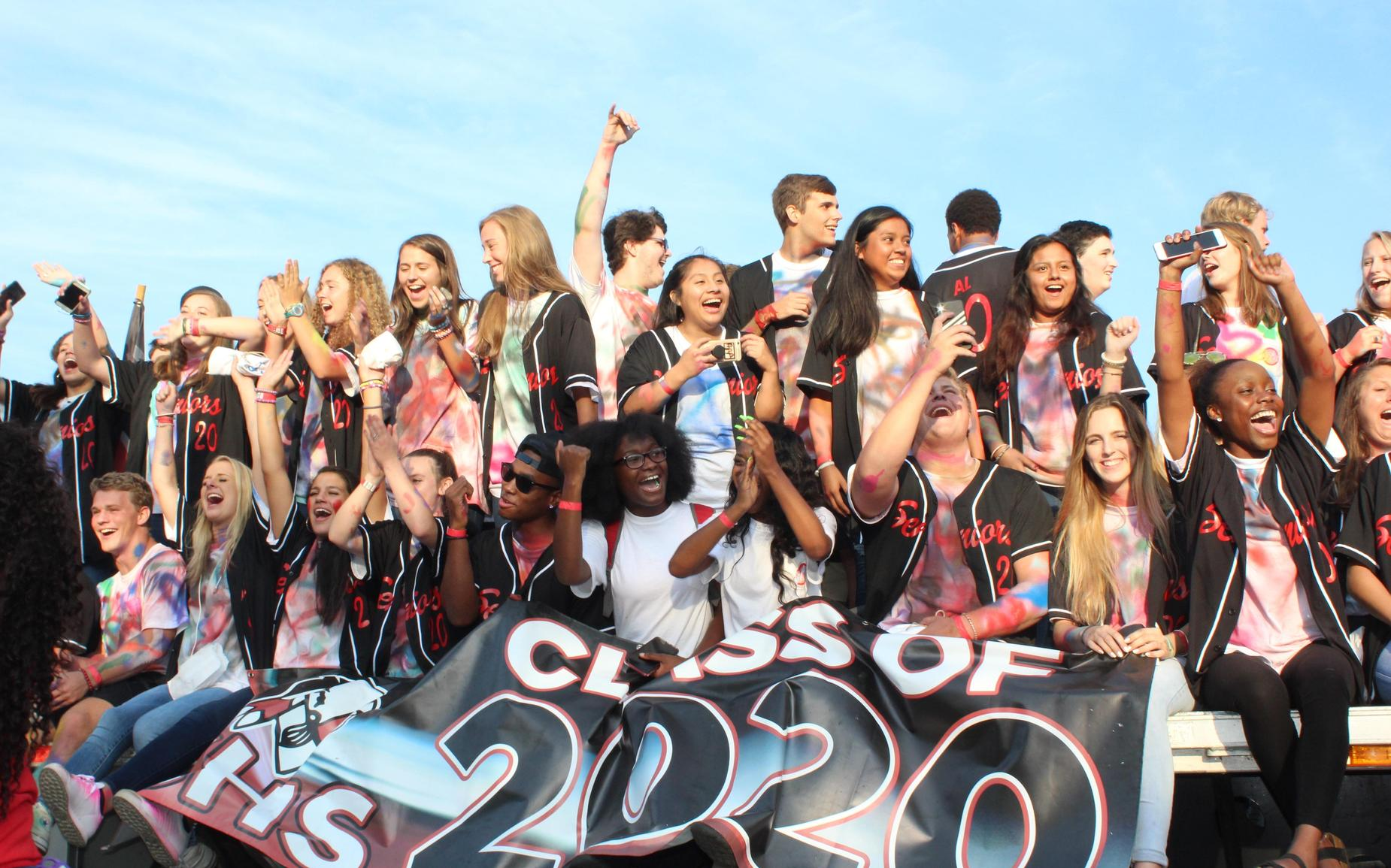 Class of 2020 arriving at CHS Monday Morning!