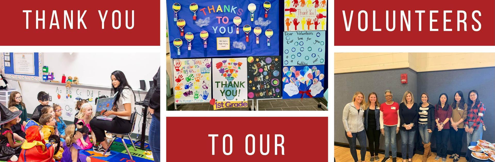 thank you volunteers banner