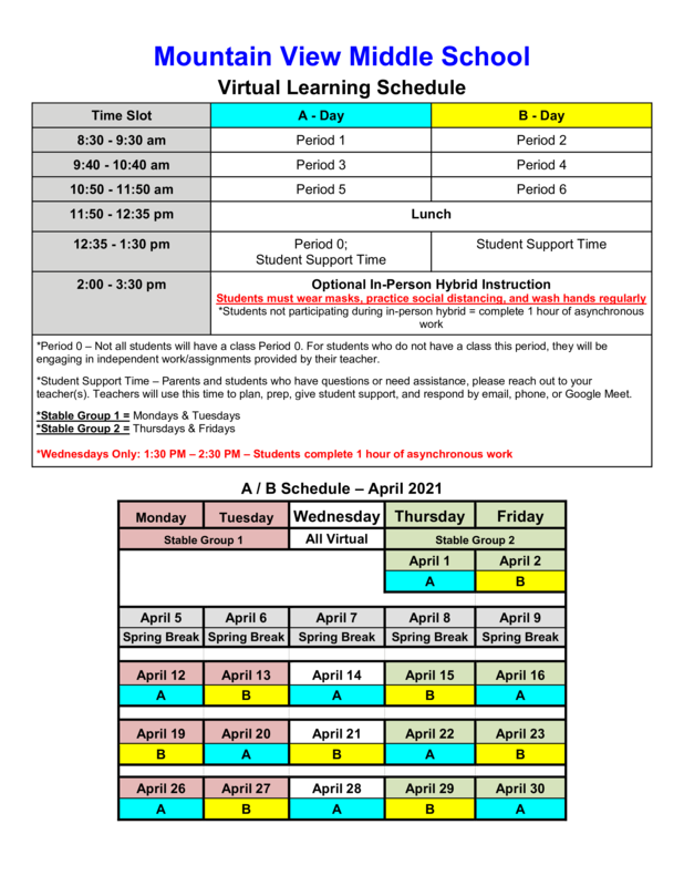 April Virtual & Hybrid Learning Schedule Featured Photo