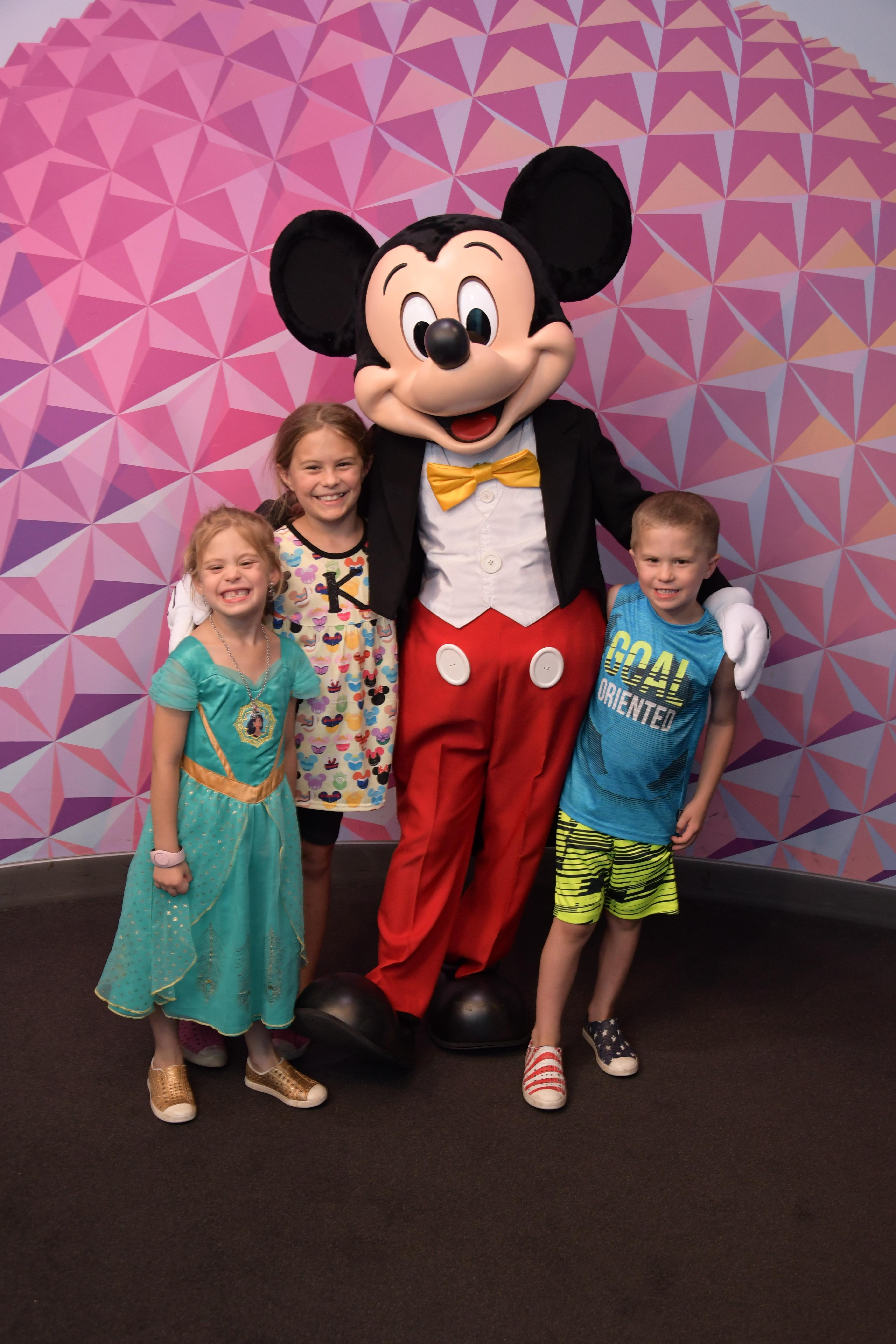 Karsteter Kids with Mickey Mouse