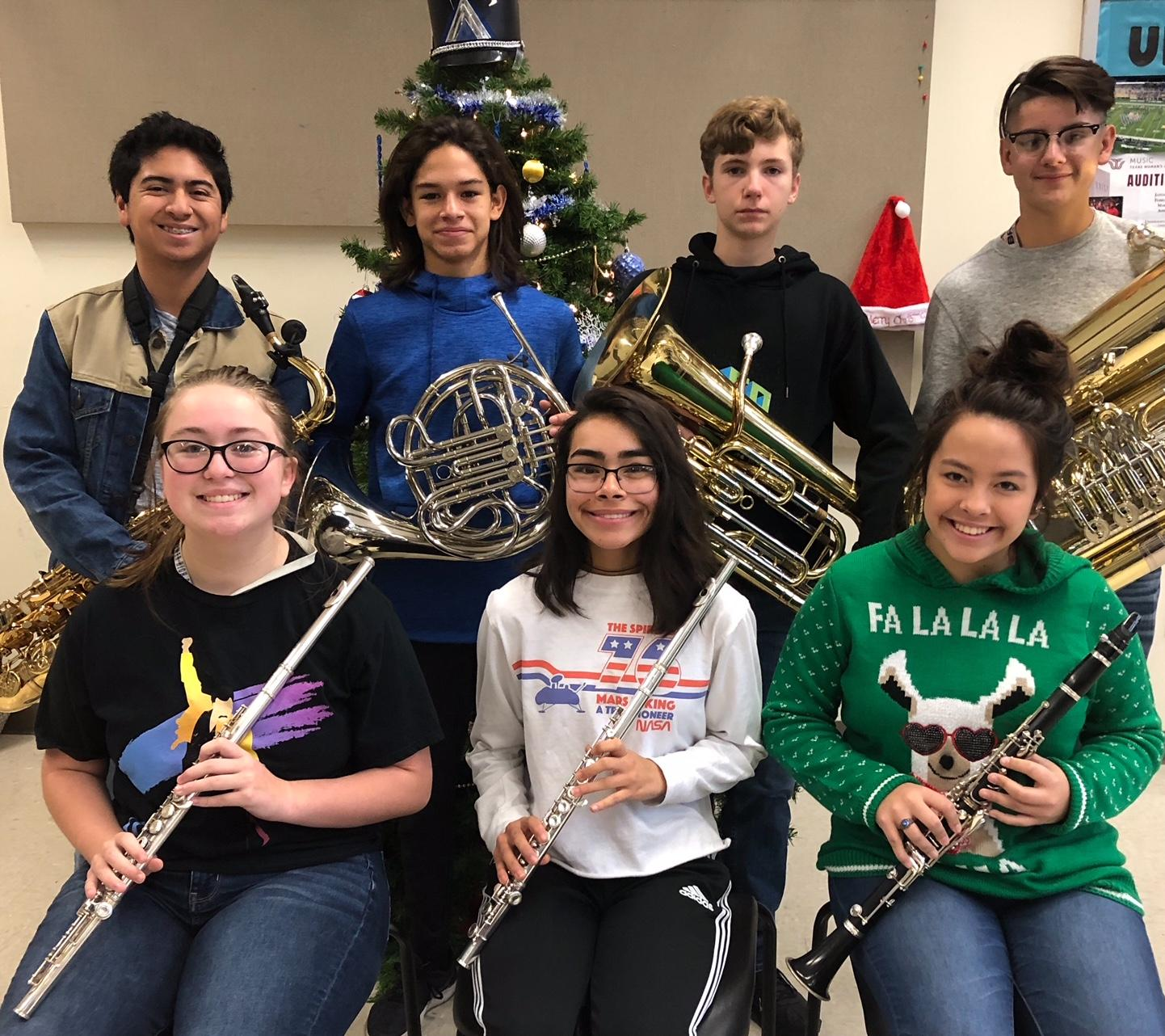 Seven Brewer High School band members (including four freshmen) were selected to the All Region Band on Dec. 15.