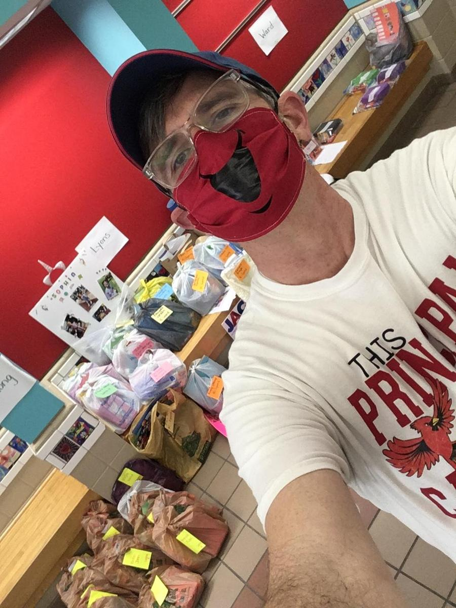 Mr. B. wearing a face mask due to COVID-19
