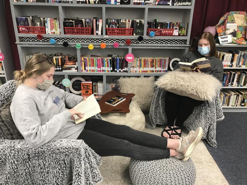 WLHS Library Cozy Reading Corner