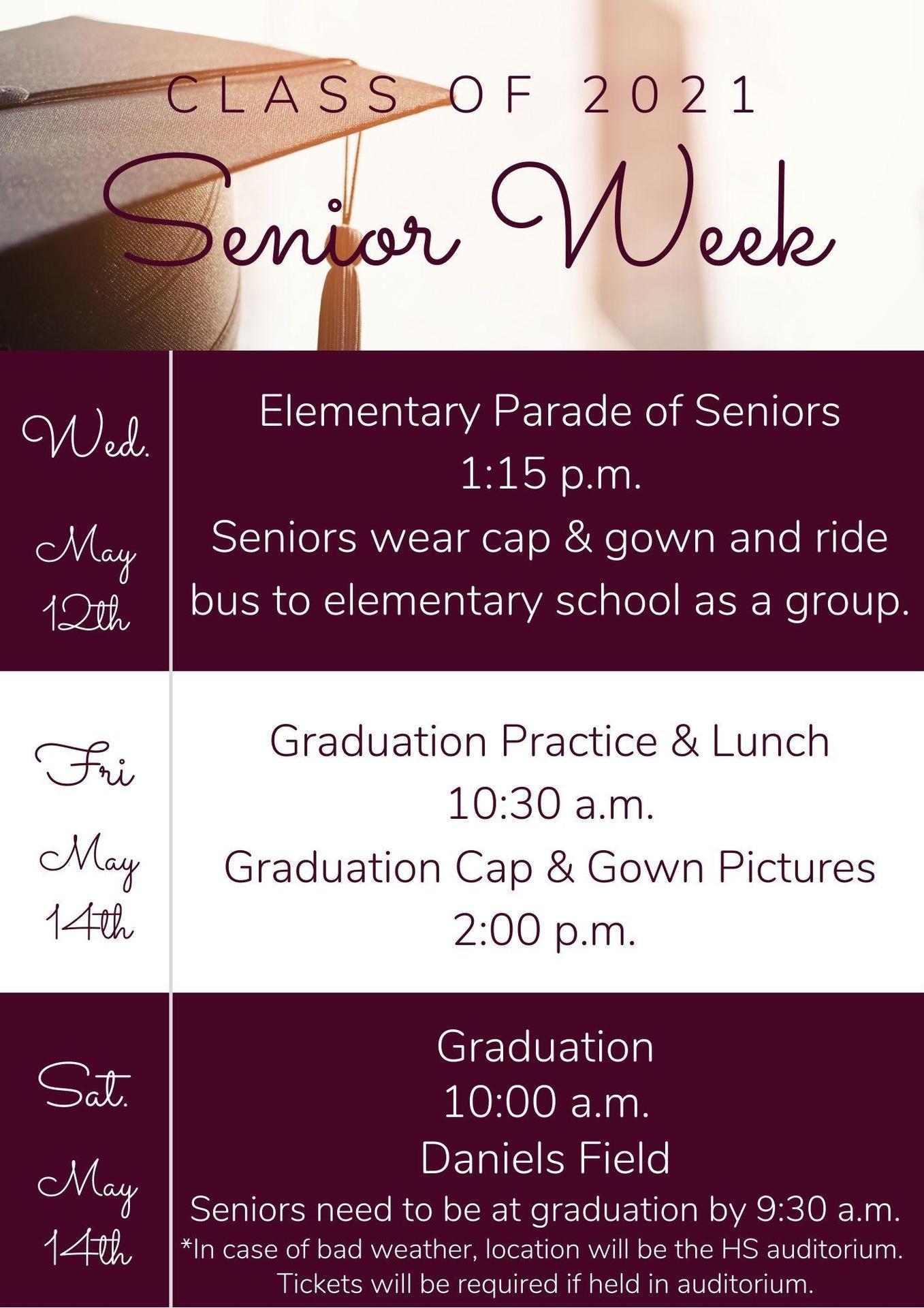 Senor Week Dates