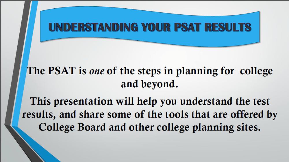 Understanding your PSAT