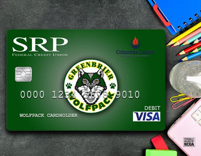 It's time for back to school shopping! What better way to support our school than by using your Greenbrier High School debit card from SRP Federal Credit Union!