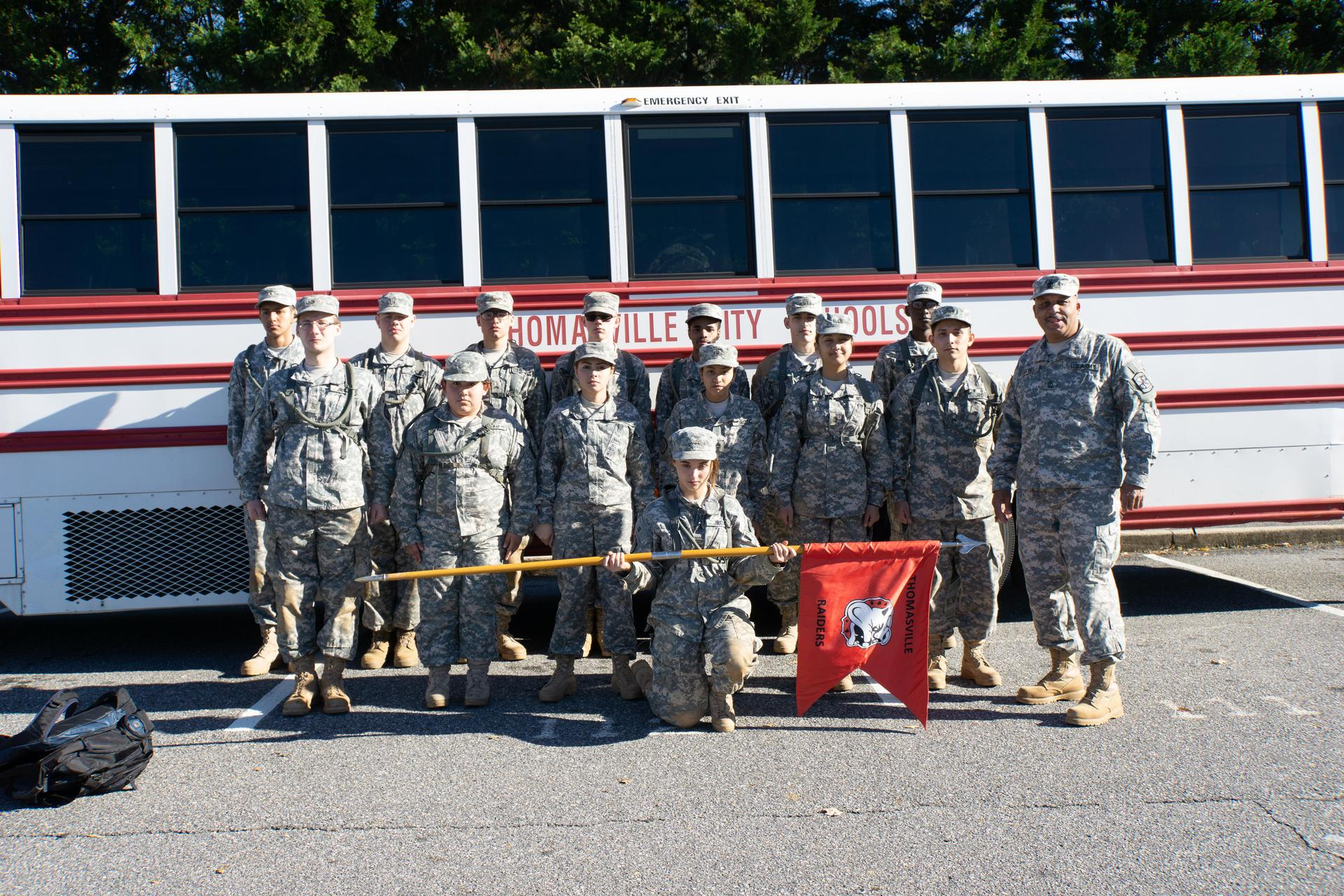 Bulldog JROTC Raider Team Group