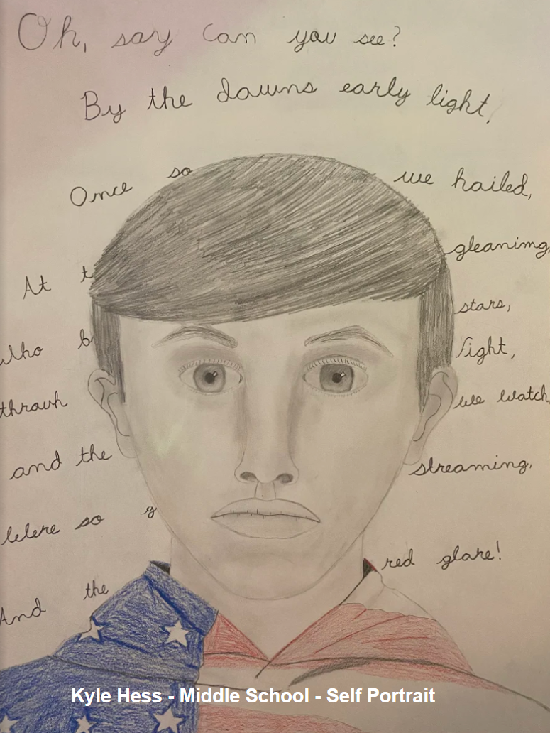 Kyle Hess - Middle School - Self Portrait