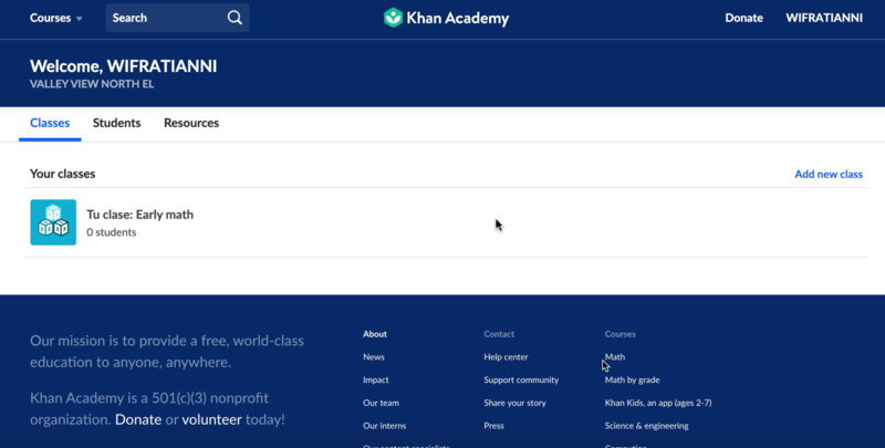 Fratianni - How to use Khan Academy Education website at home. Thumbnail Image
