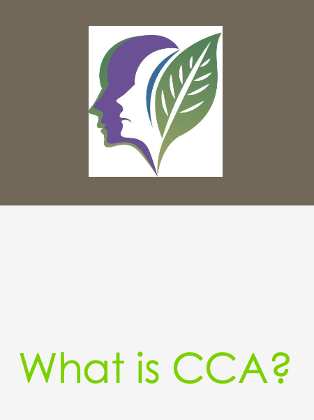 The CCA logo and text that says,