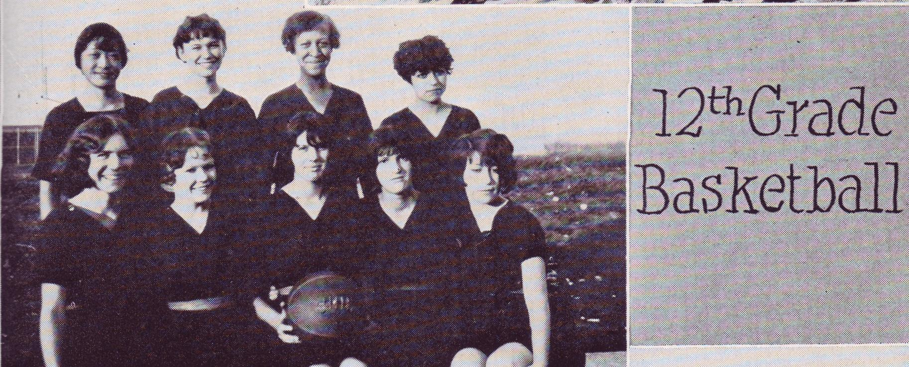 1928 Senior basketball; Pauline is bottom, left
