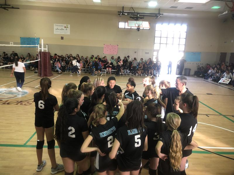 Dartmouth Girls in the Championship Volleyball Game at Diamond Valley