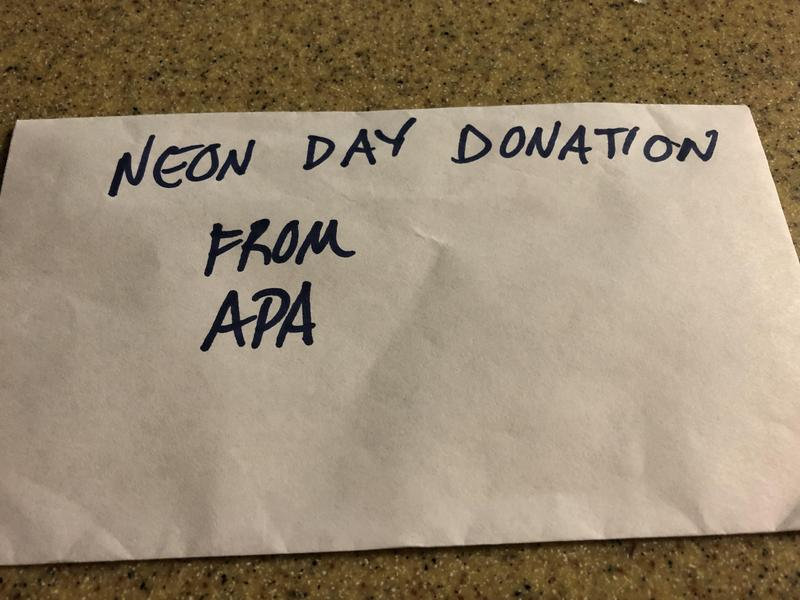This donation from APA shows how the death of a child touches all of our hearts. This act of kindness was truly a class act and will be appreciated by Carson's family. Everyone at E2 wants to thank APA from the bottom of our hearts. Thumbnail Image
