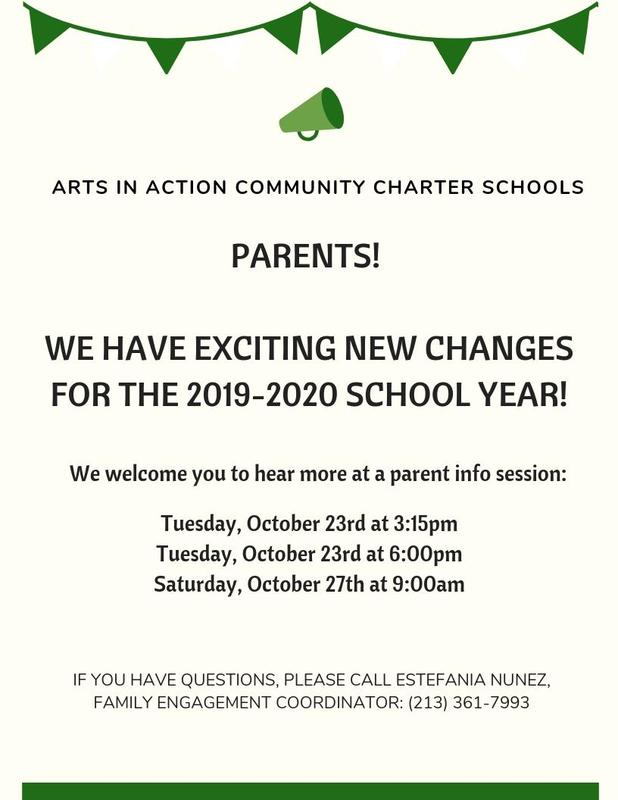 Parent Information sessions about the 2019-2020 school year! Thumbnail Image