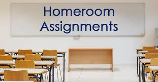 Homeroom Assignments