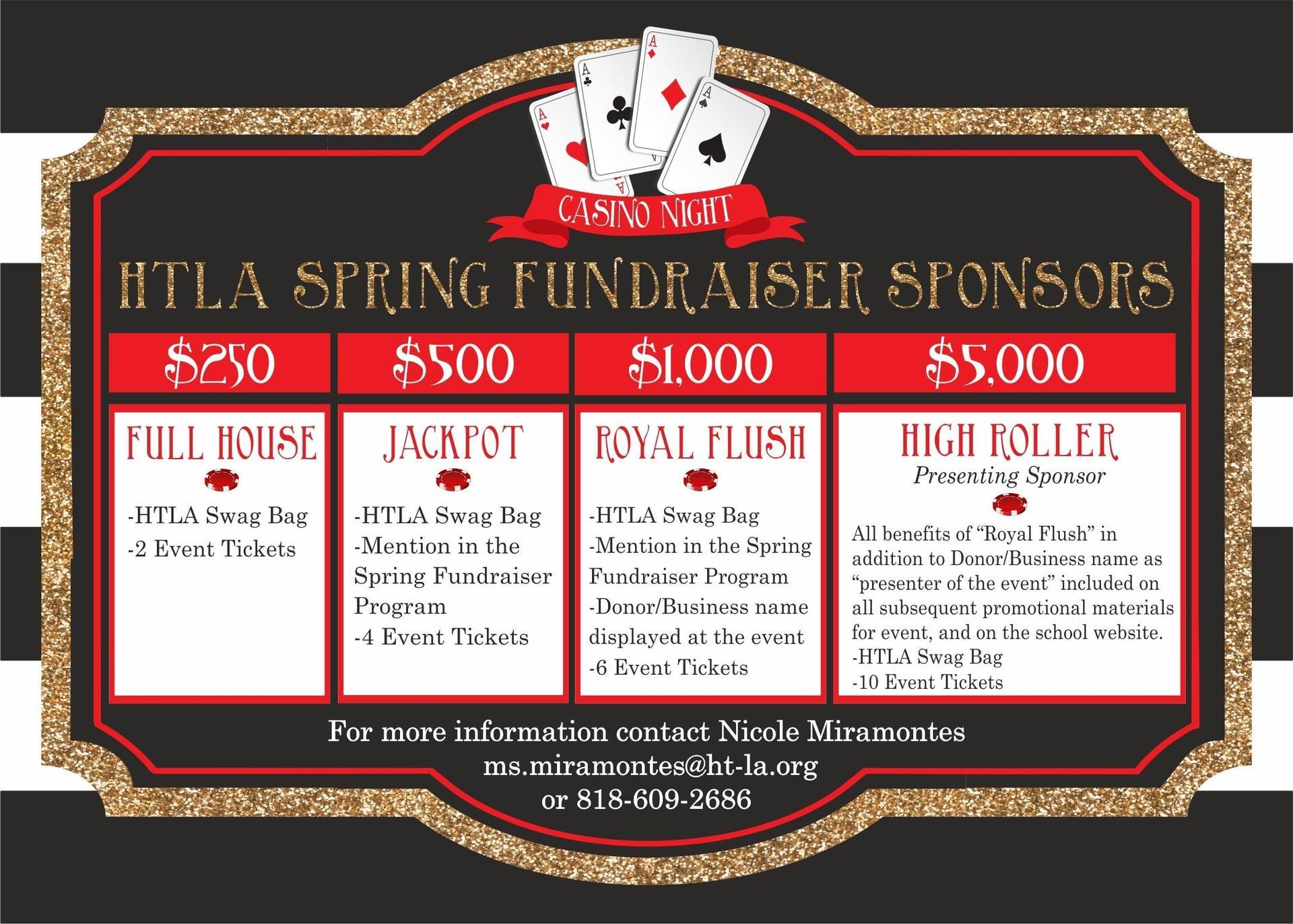 HTLA Spring Fundraiser Sponserships