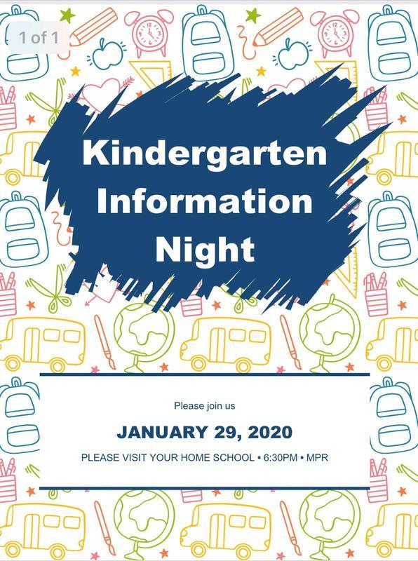 Kindergarten Information Night Featured Photo