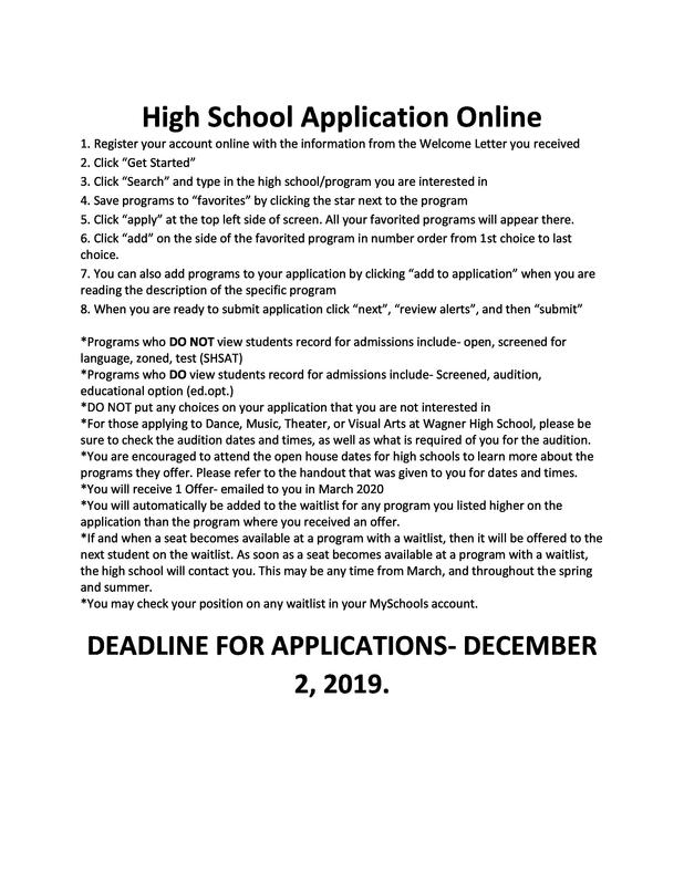 HS application guide