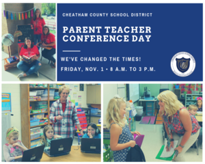 Parent Teacher Conference time change