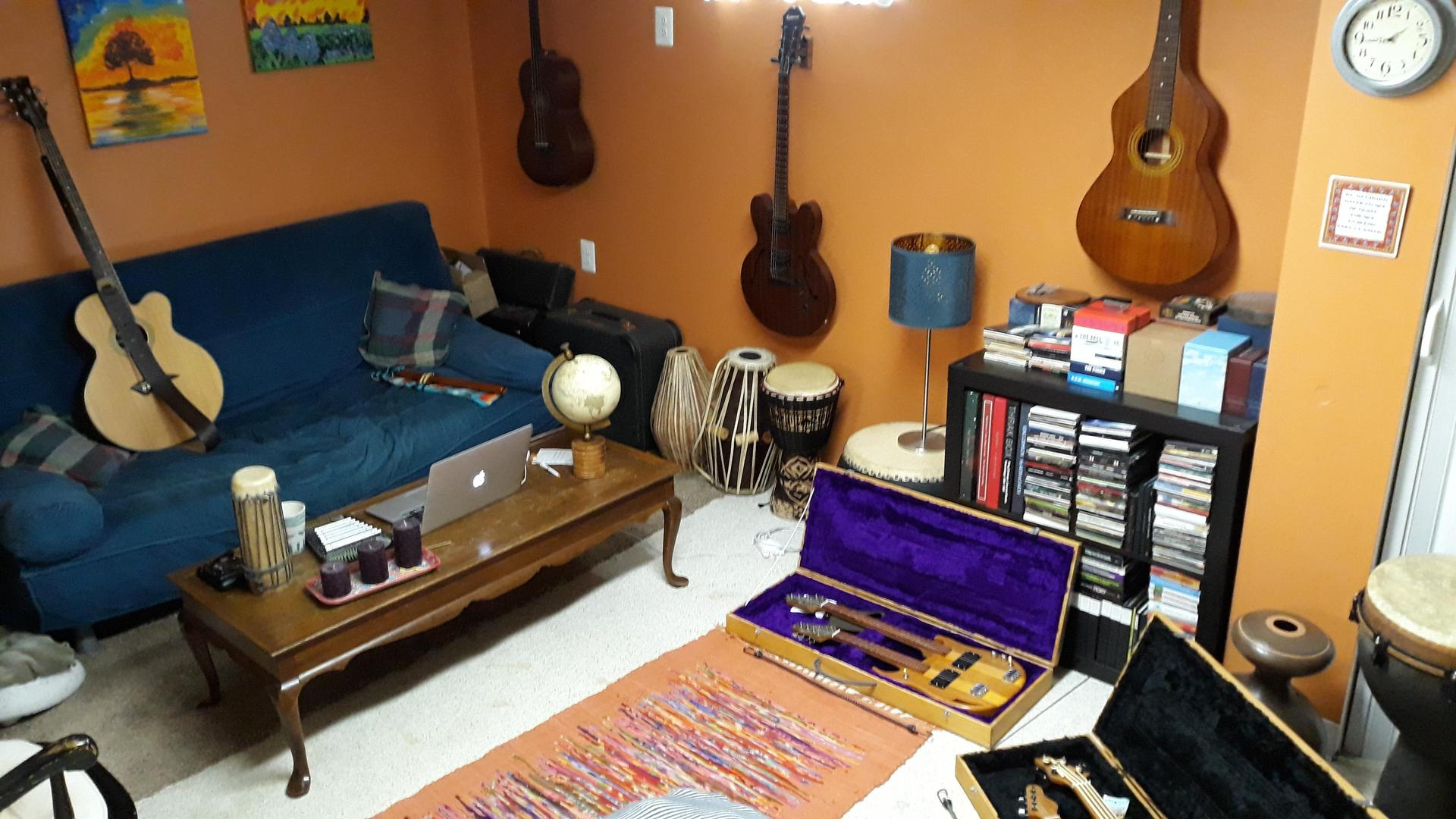 Music studio at home