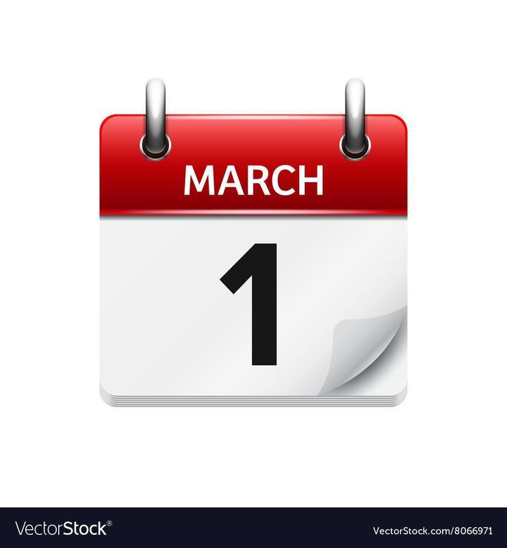 March 1 calendar
