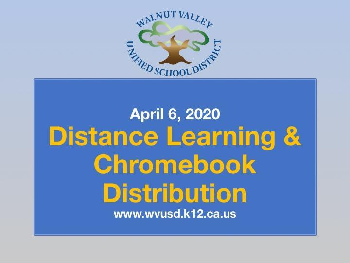 Distance Learning & Chromebook Distributuion Featured Photo