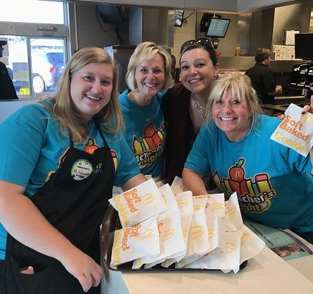 teachers working at McTeacher Night
