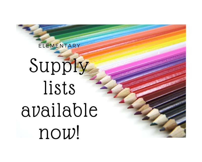School Supply List 2019-2020 Featured Photo
