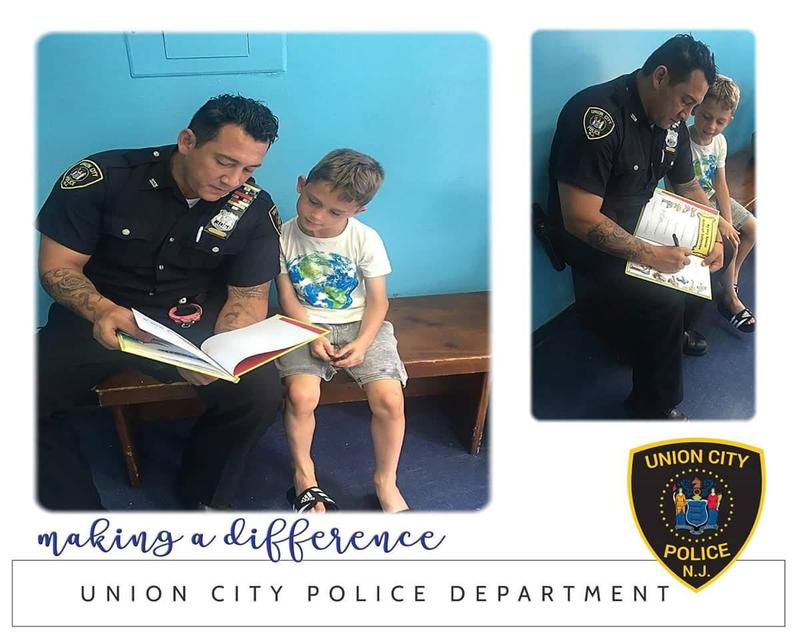 officer pina reading to charlie