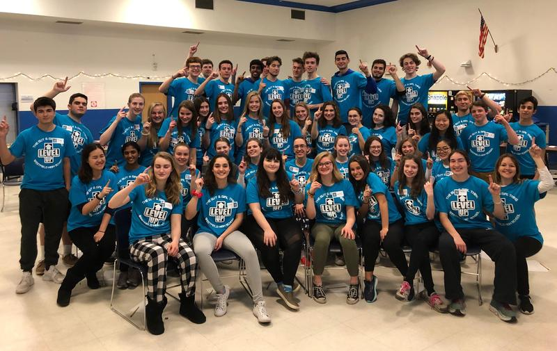 """Dubbed the """"Wingmen"""" and """"Cover Girls"""" because they """"take underclassmen under their wings and provide emotional cover,"""" 45 WHS juniors and seniors facilitated the annual Guy & Girl Thing at Westfield High School on March 22."""