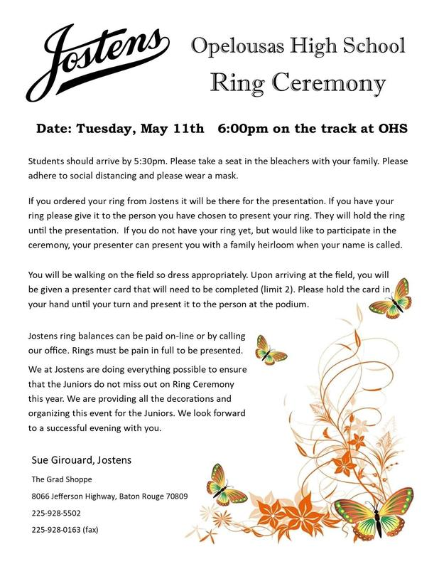 Ring Ceremony Announcement