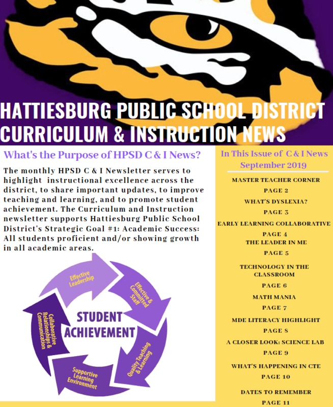 Curriculum & Instruction Monthly Newsletter (September) Featured Photo