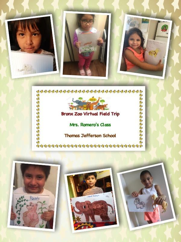 Bronx Zoo Virtual Field Trip, Ms. Romero, Kindergarten, Room 101.