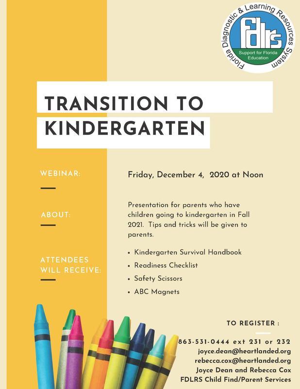 Transition to Kindergarten Flyer