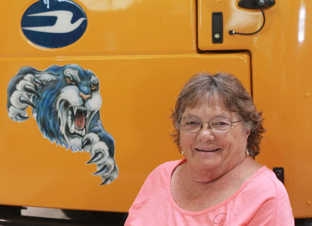 Image of bus driver Leslie Hilbird