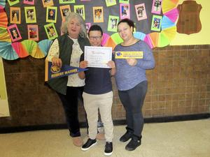 Principal Tierri, Student of the Month Darwin and his mother