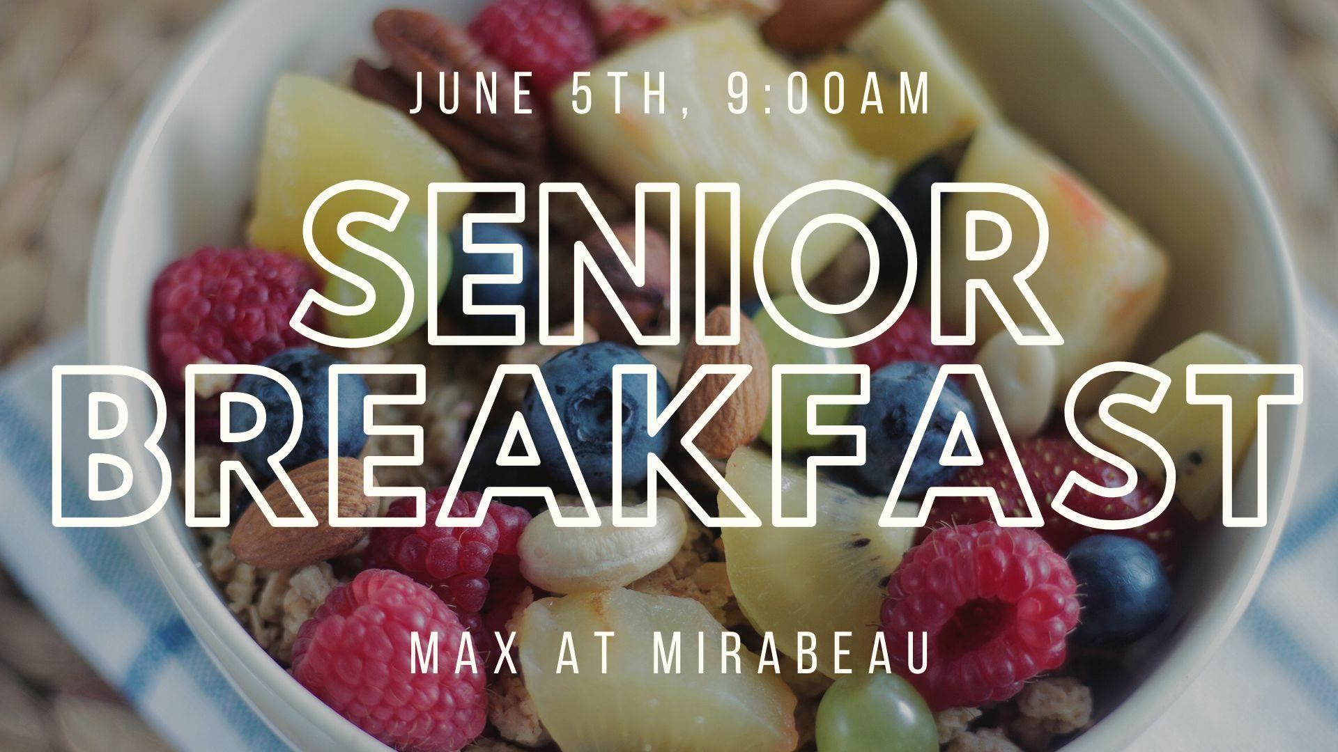 senior breakfast
