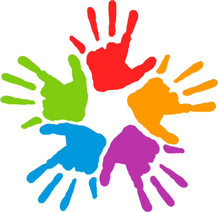 Hands in a Circle Clipart