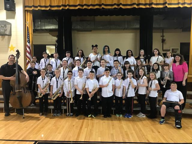 The 5th grade band welcomes guest artist, Chris Angelino.