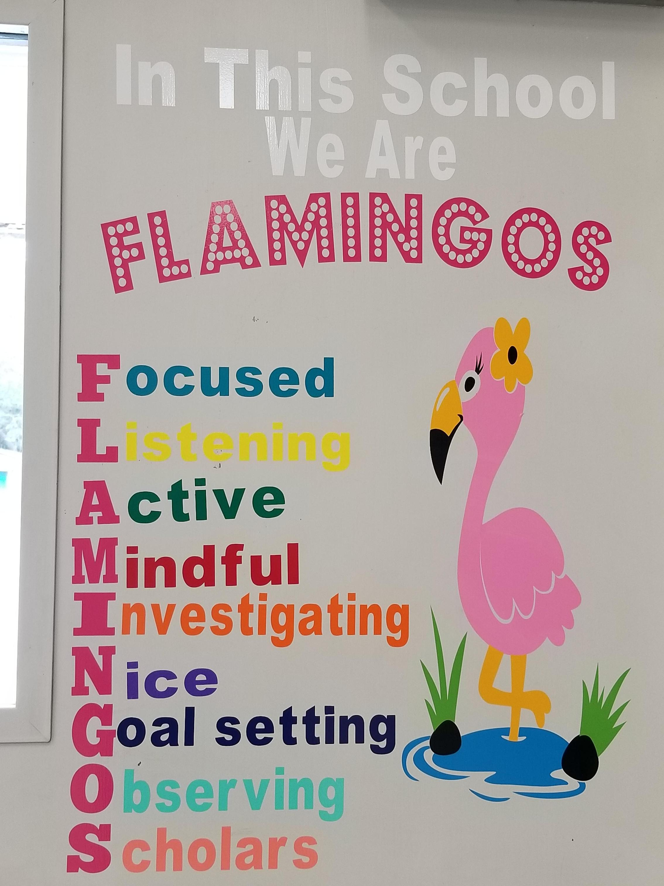 BES Flamingo Motto