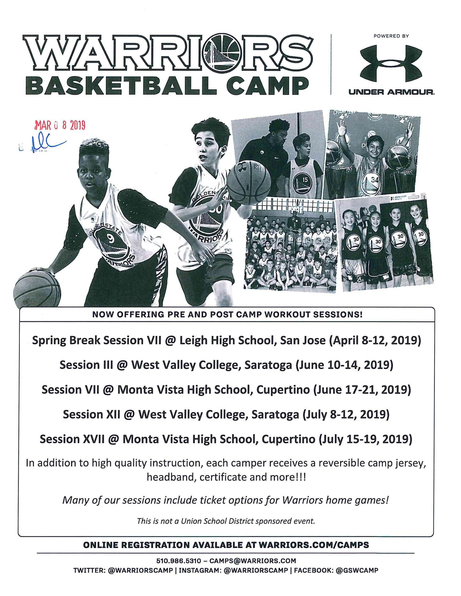 Warriors Basketball Camp